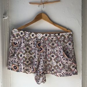 French Connection tribal shorts